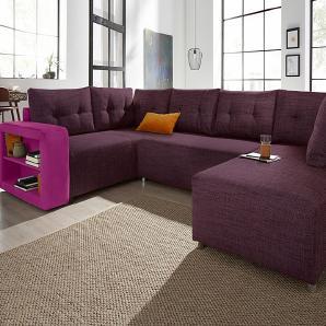 wohnlandschaften in lila online vergleichen m bel 24. Black Bedroom Furniture Sets. Home Design Ideas
