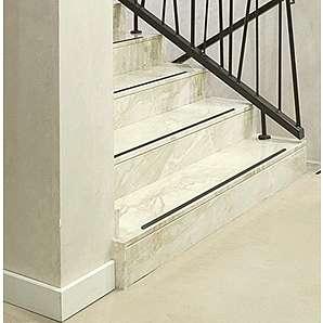 Anti Rutsch Streifen Treppe Kara.Grip 15 Stk gummiert anthrazit schwarz anstatt Stufenmatten ca. 50 cm x 3 cm, Rutschhemmer und Rutschstopp Holztreppe etc. anstatt Stufenhauben Teppichauflage