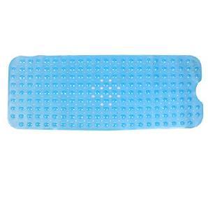 ANPI PVC Duschmatte, Sauger für Lange Rutschfeste Sichere Saubere Anti-Bakterielle Maschine Waschbare Badewanne Matte, 100*40cm, Blau