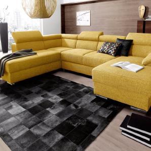 Places of Style Wohnlandschaft gelb, Recamiere rechts, Mit Bettfunktion, FSC®-zertifiziert, PLACES OF STYLE