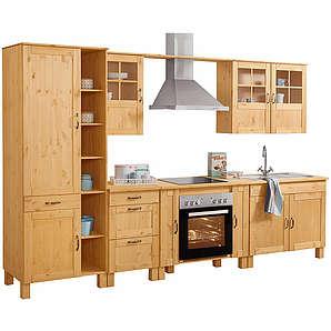 Shop: Baur   Attraktiver Küchenblock Im Modernen Landhaus Look: Die  7 Teilige Einbauküche »Alby« Ist Komplett Aus FSC® Zertifizierter, Massiver