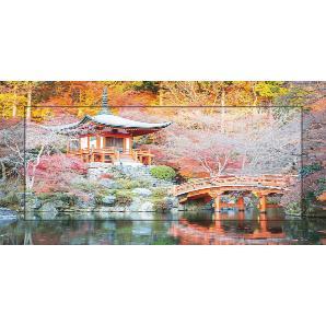 Home affaire Bild mit Modellrahmen »V. Kiatying-Angsulee: Buddhistischer Tempel in Daigo, Japan«, 101,4/51,4 cm