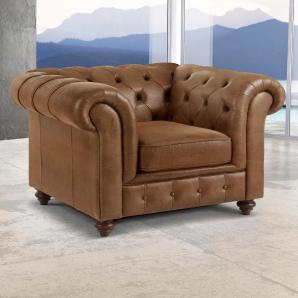 Premium collection by Home affaire Sessel »Chesterfield« braun, FSC®-zertifiziert
