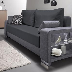 Inosign Leuchtmittel mit LED-Beleuchtung, grau, B/H/T: 244x43x55cm, hoher Sitzkomfort