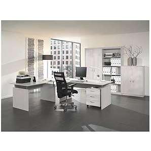 Wellemöbel Möbel-Set 7-teilig, Schreibtisch mit Wangenfuß »Adria«