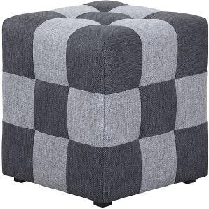 Hocker Chess Webstoff - Hellgrau / Dunkelgrau, loftscape