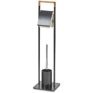 WC-Garnitur Tebelot - Eisen / Bambus teilmassiv - Basalt, Zeller