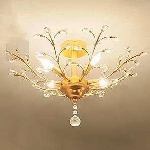 American Vintage Kristall Lampe/ schpferische Persnlichkeit Wohnzimmerlampe/Romantisches Schlafzimmer Lampe/LED[Decke]-C