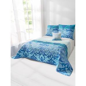 Tagesdecke, blau, Gr. ca. 140/210 cm,  home, 100% Baumwolle