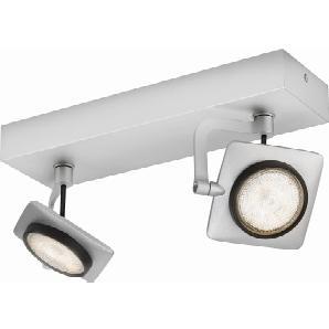 Philips myLiving LED-Spot 2er Millennium Aluminium lackiert EEK: A-A++