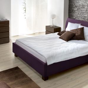 Gepolstertes Bett Amore - 100x200 cm - violett