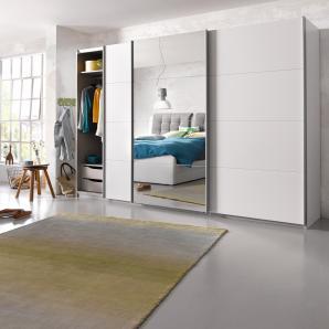 Schwebetürenschrank »Dobene« weiß, Breite 270 cm, 3-trg., weiß