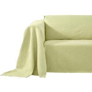 Damen Sofaüberwurf, grün, Gr. ca. 160/270 cm, PEREIRA DA CUNHA, 100% Baumwolle