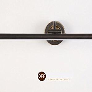 Amerikanischen schwarzen Kupfer LED Spiegel Scheinwerfer Badezimmer Badezimmer Lichter American Spiegel Schrank Lichter europäischen wasserdichten Gezeiten Rost 43CM, 56CM, 75CM , 43cm