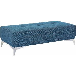 Hocker, blau, B/H: 138x44cm, hoher Sitzkomfort