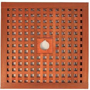 Abdeckung für Sonnenschirmständer Sonnenschirmständer-Abdeckung Abdeckhaube aus Tatami 600 x 600 mm verschiedene Lochdurchmesser – Art. 810-823-39