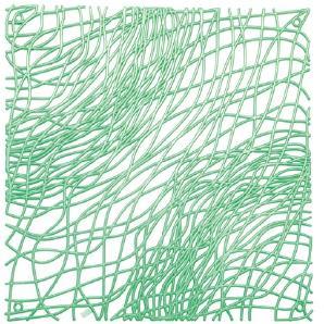 koziol Raumteiler  Silk,  Kunststoff, transparent mint, 0.3 x 27.1 x 27.1 cm