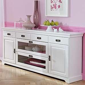 Home affaire Landhaus Sideboard, weiß, Breite 180cm, FSC®-zertifiziert