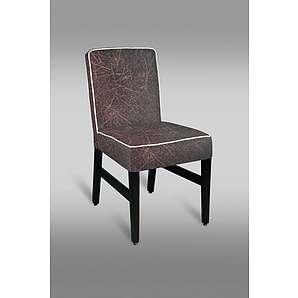 Stuhl Leblon 09 mit Stoffbezug, Farbe: Rot / Grau - Abmessungen: 88 x 46 x 49 cm (H x B x T)