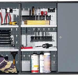 Werkzeugschrank, 2 Türen, grau