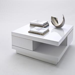 Couchtisch Weiss Hochglanz Mca-Furniture Abby Weiß Mdf Modern