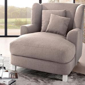 &more XXL-Ohrensessel SIT&MORE  beige