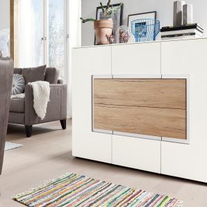 Set One By Musterring Sideboard »arizona«, weiß, pflegeleichte Oberfläche, mit Schubkästen