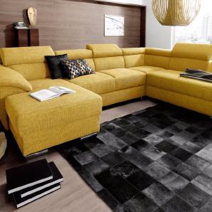 Places of Style Wohnlandschaft gelb, Recamiere links, FSC®-zertifiziert, PLACES OF STYLE