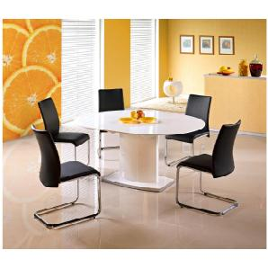 JUSTyou Sitzgruppe Sitzgarnitur Esszimmergarnitur  Federico Weiß + 5 Stühle Emilio