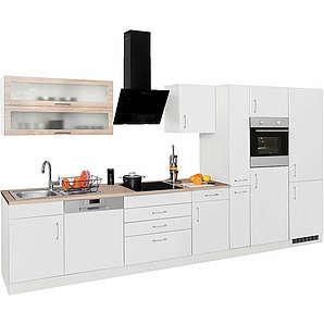 HELD MÖBEL Küchenzeile ohne E-Geräte Utah Breite 390 cm weiß