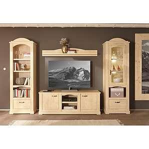 Home affaire Wohnwand »Arosa« 4-tlg., bestehend aus Vitrine, Wandregal, TV-Lowboard und Regal
