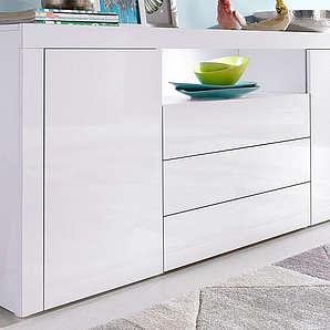 BORCHARDT MÖBEL Borchardt Möbel Sideboard Breite 166 cm weiß