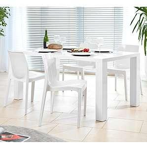 SalesFever Essgruppe Tisch 180x90cm mit 6 Design Stühlen »Luke«