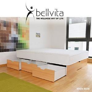 bellvita Wasserbett mit Schubladen inkl. SONDERAKTION bellvita Wasserbett mit SCHUBLADENSOCKEL inkl. Lieferung & Aufbau durch Fachpersonal, 200 cm x 220 cm (buche)