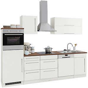 HELD MÖBEL Küchenzeile Samos ohne E-Geräte Breite 280 cm weiß