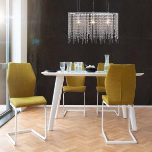 Hängeleuchte Ricca 80x58 cm Transparent Acrylglas, Hängeleuchten