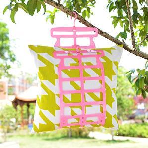 KKLL Kleiderbügel Kissen Plüsch Spielzeug Wäscheständer winddicht Multifunktions-Hanger(pack of 5) , pink