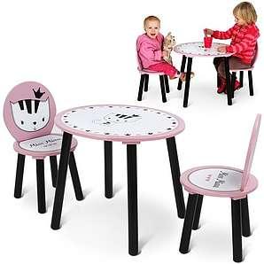 Kindersitzgruppe von Infantastic®, in rosa geeignet als Kindersitzgruppe Sitzgruppe Kinder Kinderstühle Kindertisch Schmetterlin Marienkäfer Tisch Tisch lackiert