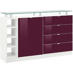 Borchardt Möbel Kommode Dolly Breite 135 cm mit Glasablage BORCHARDT MÖBEL weiß