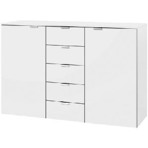 CARRYHOME: Kommode, Holzwerkstoff, Weiß, B/H/T 140 100 42