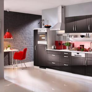 HELD MÖBEL Küchenzeile mit E-Geräten »Calais, Breite 330 cm«
