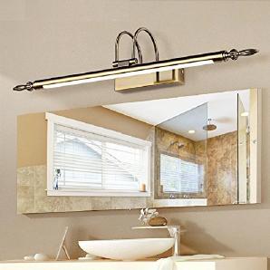 WGE Spiegel Lampe Badezimmer Spiegel Kabinett Beleuchtung Wasserdicht Led Spiegel Beleuchtung , White , 76Cm