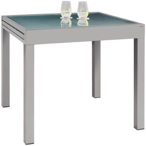 AMBIA GARDEN: Tisch, Silber, Weiß, B/H/T 90-180 75 90