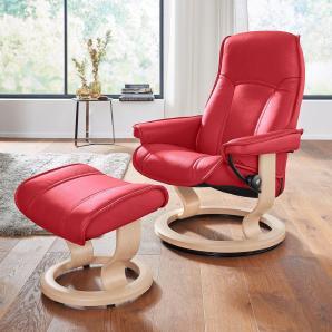 Stressless® Set: Relaxsessel mit Hocker »Senator« mit Classic Base, Größe S, mit Schlaffunktion