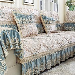 FEIZISchlüpfen sie vier sofakissen,fabric simple modern european solid wood sofa cover,kissen-B 60x180cm(24x71inch)