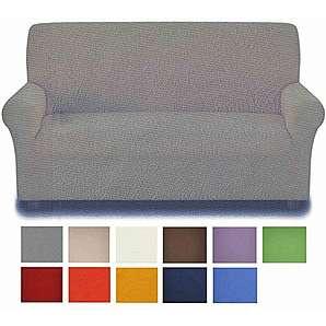 Fleckenbeständig: Sofa-Abdeckung 3 Plätze von 180 bis 250 cm. - ARANCIO - ORANGE