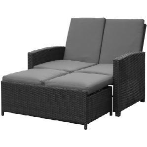 Gartensofa Paradise Lounge (inkl. Hocker