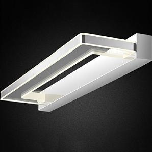 Rollsnownow Long 64 cm Beleuchtung LED Spiegel Scheinwerfer Bad Bad modern einfach Spiegel Schrank Lichter Feuchtigkeit 4000K 10W