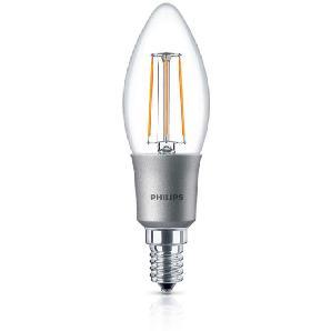 Philips Leuchtmittel LED Classic Kerze E14 4,5 W, warmweiß, dimmbar, klar