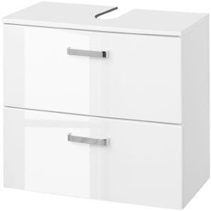 Waschbeckenunterschrank Ancona - Hochglanz Weiß / Weiß, Giessbach
